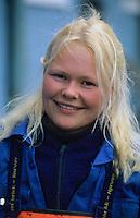 Europe/Norvège/Iles Lofoten/Ballstad: Portrait d'une ouvrière dans une pècherie