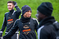 Wednesday  06 January 2016<br /> Pictured: Jefferson Montero of Swansea <br /> Re: Swansea City Training session at the Fairwood training ground, Swansea, Wales, UK