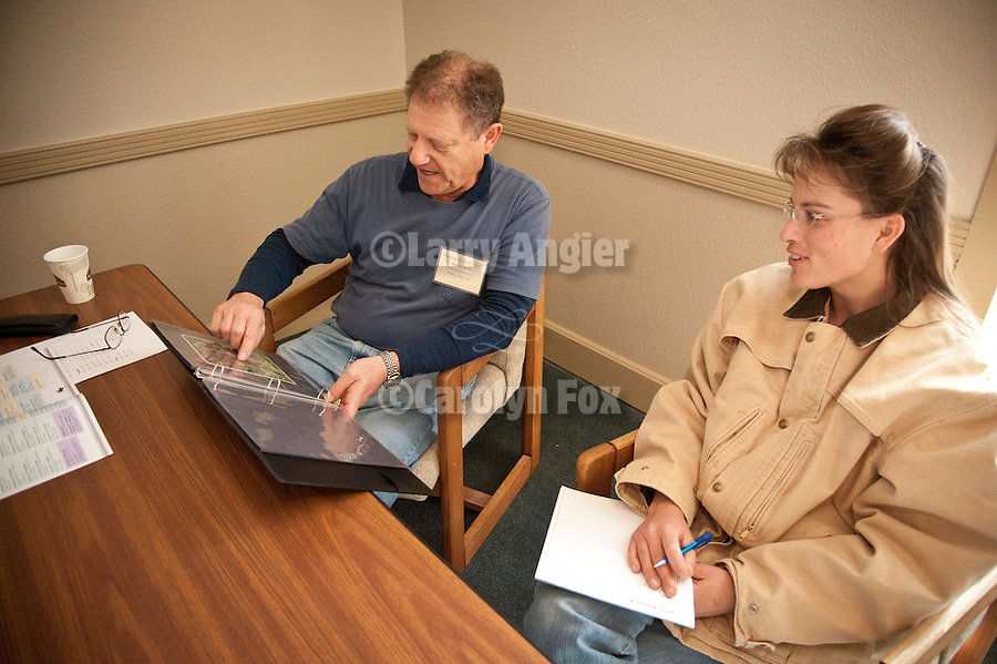 Portfolio review with Mark Citret at Shooting the West XXIV, WInnemucca, Nevada