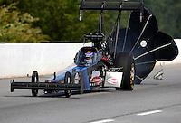 May 16, 2015; Commerce, GA, USA; NHRA top fuel driver Cory McClenathan during qualifying for the Southern Nationals at Atlanta Dragway. Mandatory Credit: Mark J. Rebilas-USA TODAY Sports