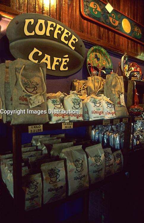 Costa Rica - file Photo -Manuel-Antonio-coffee store