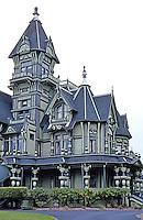Eureka CA:  William Carson House, left wing of house.   Photo '83.