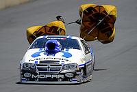 Jul, 22, 2012; Morrison, CO, USA: NHRA pro stock driver Allen Johnson during the Mile High Nationals at Bandimere Speedway. Mandatory Credit: Mark J. Rebilas-US PRESSWIRE