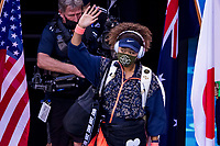 20th February 2021, Melbourne, Victoria, Australia; Naomi Osaka of Japan walks onto the court to commence the Women's Singles Final of the 2021 Australian Open on February 20 2021, at Melbourne Park in Melbourne, Australia.