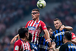 Francisco Montero of Atletico de Madrid heads the ball during their International Champions Cup Europe 2018 match between Atletico de Madrid and FC Internazionale at Wanda Metropolitano on 11 August 2018, in Madrid, Spain. Photo by Diego Souto / Power Sport Images