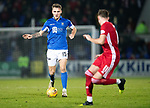 St Johnstone v Aberdeen…..24.11.19   McDiarmid Park   SPFL<br />Jason Kerr carries the ball forward<br />Picture by Graeme Hart.<br />Copyright Perthshire Picture Agency<br />Tel: 01738 623350  Mobile: 07990 594431