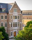 June 24, 2021; McKenna Hall nearing completion, summer 2021 (Photo by Matt Cashore/University of Notre Dame)