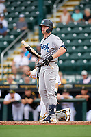 Tampa Tarpons Tyler Hardman (17) bats during Game One of the Low-A Southeast Championship Series against the Bradenton Marauders on September 21, 2021 at LECOM Park in Bradenton, Florida.  (Mike Janes/Four Seam Images)