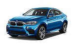 2018 BMW X6 M 4 Door SUV angular front stock photos of front three quarter view