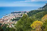 Principality of Monaco, on the French Riviera (Côte d'Azur): view across Monaco with district Monte Carlo | Fuerstentum Monaco, an der Côte d'Azur: Blick auf Monaco mit dem Stadtteil Monte Carlo