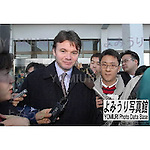 November, 30th : Busan, Korea - The coach of the Japan national team, Philippe Troussier, arrives at the Gimhae International Airport. (Photo by Kenji Shimizu)