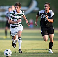 Number 8 ranked Charlotte beats number 16 ranked Coastal Carolina 1-0 on a goal by Thomas Allen in the 101st minute during the second overtime.  Nick Barnhorst (14), Jakub Stourac (14)