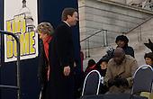 Columbia, South Carolina.January 7, 2008 ..Democratic presidential hopeful and New York Senator Hillary Clinton with the two other Democratic Presidential candidates, Senator Barak Obama and John Edwards at an ANNCP rally for Martin Luther King day....