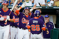 Clemson's Kyle Parker in Game 14 of the NCAA Division One Men's College World Series on June 26th, 2010 at Johnny Rosenblatt Stadium in Omaha, Nebraska.  (Photo by Andrew Woolley / Four Seam Images)