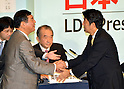 Shinzo Abe re elected as president of the main opposition Liberal Democratic Party of Japan