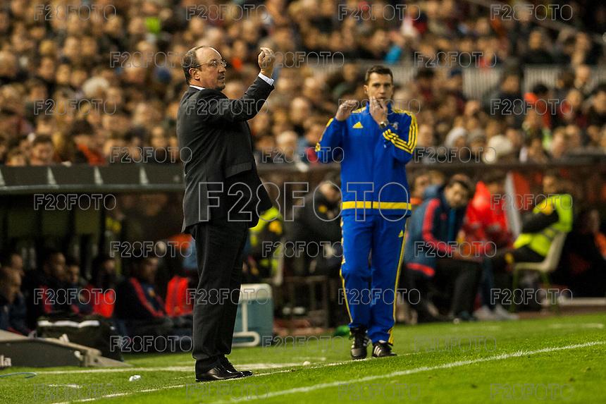 VALENCIA, SPAIN - JANUARY 3: Benitez during BBVA LEAGUE match between Valencia C.F. and Real Madrid at Mestalla Stadium on January 3, 2015 in Valencia, Spain
