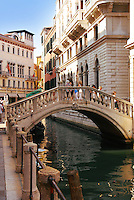 Beautiful view of bridge over canal in Venice