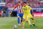 Jaume Vicent Costa Jorda (R) of Villarreal CF in action during the La Liga match between Atletico de Madrid vs Villarreal CF at the Estadio Vicente Calderon on 25 April 2017 in Madrid, Spain. Photo by Diego Gonzalez Souto / Power Sport Images