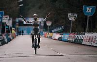 cx world champion Ceylin del Carmen Alvarado (NED/Alpecin-Fenix) on her way to winning the X2O Herentals Cross 2020 (BEL)<br /> <br /> ©kramon