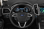Car pictures of steering wheel view of a 2018 Ford S-Max Vignale Base 5 Door Mini Van