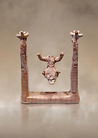 Minoan clay model of a divine figure on a swing , Agia Triada 1700-1600 BC; Heraklion Archaeological  Museum.