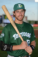 Daytona Tortugas third baseman Taylor Sparks (12) poses for a photo before a game against the Tampa Yankees on April 24, 2015 at George M. Steinbrenner Field in Tampa, Florida.  Tampa defeated Daytona 12-7.  (Mike Janes/Four Seam Images)