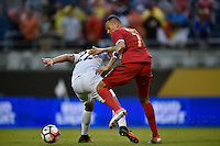Orlando, FL - Monday June 06, 2016: Panama forward Blas Pérez (7) and Bolivia defender Edward Zenteno (22) during a Copa America Centenario Group D match between Panama (PAN) and Bolivia (BOL) at Camping World Stadium.