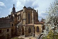 Europe/France/Aquitaine/24/Dordogne/Vallée de la Dordogne/Périgord/Périgord noir/Sarlat-la-Canéda: L'église abbatiale Saint-Sacerdos