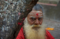 Sadhu at Animal Sacrifice Temple at Dahsa Kali