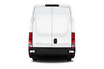 Straight rear view of 2018 Iveco Daily 35S 4 Door Cargo Van Rear View  stock images