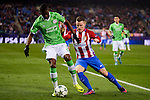 Atletico de Madrid's player Kevin Gameiro and PSV Eindhoven's player Nicolas Isimat-Mirin during a match of La Liga at Santiago Bernabeu Stadium in Madrid. November 06, Spain. 2016. (ALTERPHOTOS/BorjaB.Hojas)