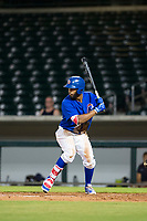 AZL Cubs right fielder Jonathan Sierra (22) bats during a game against the AZL Brewers on August 6, 2017 at Sloan Park in Mesa, Arizona. AZL Cubs defeated the AZL Brewers 8-7. (Zachary Lucy/Four Seam Images)
