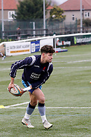 Grayson Hart of London Scottish warms up during the Greene King IPA Championship match between Ealing Trailfinders and London Scottish Football Club at Castle Bar , West Ealing , England  on 19 January 2019. Photo by Carlton Myrie/PRiME Media Images
