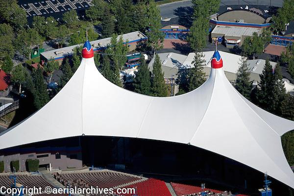 aerial photograph Shoreline Amphitheater Mountain View, California