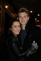 General Hospital's Kristen Alderson and Chad Duell came into New York City to see Broadway's Rocky on April 25, 2014 and then went backstage to meet the actors. Photos were taken backstage and on stage.  (Photo by Sue Coflin/Max Photos)