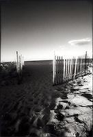 Sunset on dune fence&#xA;<br />
