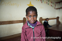 Africa, Swaziland, Malkerns. Nest organization artisan project. Bethany NCP school & school children. Andiswa, 5 years old.