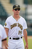 Bradenton Marauders Logan Stoelke (19) after a Florida State League game against the Tampa Tarpons on May 26, 2019 at LECOM Park in Bradenton, Florida.  Bradenton defeated Tampa 3-1.  (Mike Janes/Four Seam Images)