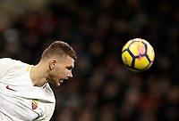 Calcio, Serie A: Inter - Roma, Milano, stadio Giuseppe Meazza (San Siro), 21 gennaio 2018.<br /> Roma's Edin Dzeko in action during the Italian Serie A football match between Inter Milan and AS Roma at Giuseppe Meazza (San Siro) stadium, January 21, 2018.<br /> UPDATE IMAGES PRESS/Isabella Bonotto