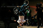 Kevin Robinson competes in the BMX Freestyle Vert Best Trick finals during X-Games 12 in Los Angeles, California on August 4, 2006.