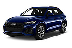 2021 Audi Q5 Edition-One 5 Door SUV Angular Front automotive stock photos of front three quarter view