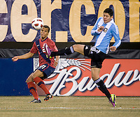 Tim Chandler, Marcos Rojo. The USMNT tied Argentina, 1-1, at the New Meadowlands Stadium in East Rutherford, NJ.
