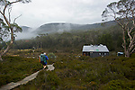 A long day before tthe arrival to waterfall valley hut