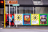 People walk past the Willis St and Webb Street intersection during Alert Level 2 COVID-19 pandemic civil emergency conditions in Wellington, New Zealand on Saturday, 16 May 2020. Photo: Dave Lintott / lintottphoto.co.nz