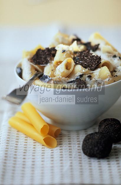 Europe/France/Midi-Pyrénées/46/Lot: Gros macaroni à la crème de truffe