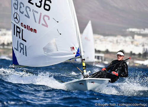 Annalise Murphy competing at her winter training base in Lanzarote