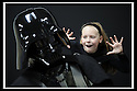 03/05/2009  Copyright  Pic : James Stewart.02_the_buzz.**** FREE FIRST USE WHEN USED IN RELATION TO  OPENING OF THE BUZZ ****.THE UK'S LARGEST SOFT PLAY AND LASER QUEST ARENA OPENS IN FALKIRK...... .ELLIE MCGREGOR (11) WITH DARTH VADER, WHO OPENED THE CENTRE......For more information contact Jonathan Kennedy or Alison Jack at Wave PR on 0141 303 8390 / 07803 137262..James Stewart Photography 19 Carronlea Drive, Falkirk. FK2 8DN      Vat Reg No. 607 6932 25.Telephone      : +44 (0)1324 570291 .Mobile              : +44 (0)7721 416997.E-mail  :  jim@jspa.co.uk.If you require further information then contact Jim Stewart on any of the numbers above.........