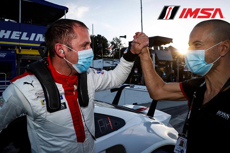 GTLM pole award winner #911 Porsche GT Team Porsche 911 RSR - 19, GTLM: Nick Tandy, Fred Makowiecki