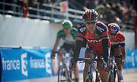 111th Paris-Roubaix 2013..Greg Van Avermaet (BEL) finishing.