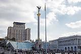 Kiew heute und während der Proteste